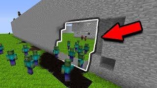 СТЕНА ПОЧТИ РАЗРУШЕНА ОТ ЗОМБИ В МАЙНКРАФТ - GONG #3 МАЙНКРАФТ ЗОМБИ АПОКАЛИПСИС  Minecraft ZOMBIE A