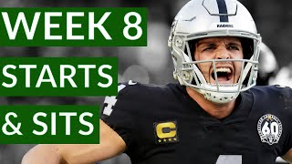 NFL Week 8 Fantasy Football Starts and Sits 2020 | Time2Football