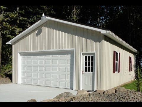 How to build a pole building youtube for Cost to build a single car garage