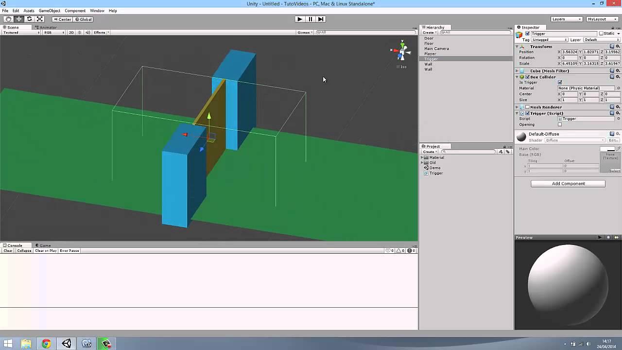 Unity 4 ouverture de porte automatique youtube - Ouverture de porte automatique ...