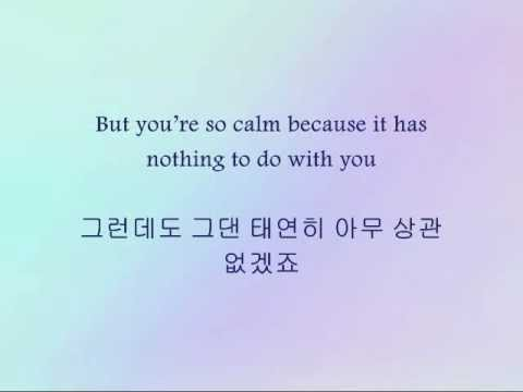 Yesung - 사랑 참 아프다 (Love Really Hurts) [Han & Eng]