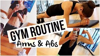 MY GYM ROUTINE   ARMS + ABS