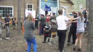 Обучение казачьим танцам. Детский казачий лагерь