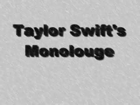 Taylor Swift - SNL - Monologue(Lalala) - LYRICS w/ download.