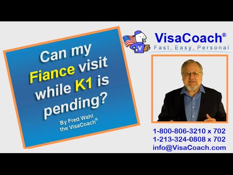 Can fiance visit USA while K1 visa application in process? K1Faq #37