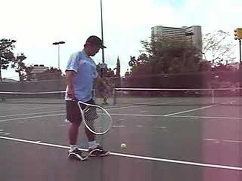 how to kick serve in tennis step by step