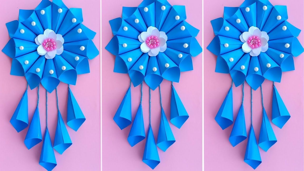 Diy Simple Home Decor Wall Decoration Hanging Flower Paper Craft Ideas Paper Craft Youtube