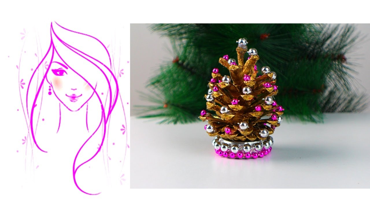 Pine Cone Christmas Ornaments To Make.Morena Diy How To Make Pine Cone Christmas Trees
