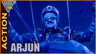 Arjun Movie || Balakrishna Go Pakistan by Parachute Action Scene || Laya || Eagle Hindi Movies