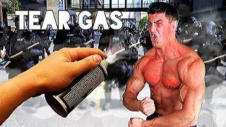Bodybuilder VS Tear Gas GRENADE Experiment