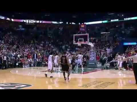 Derrick Rose Game Winner vs Bucks (Stacey King) (3.7.12) [HD]