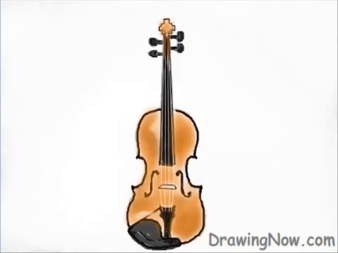 learn how to draw a violin youtube