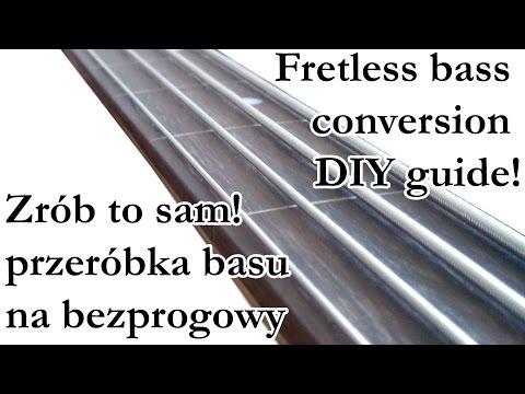 Fretless bass conversion tutorial (Przeróbka basu na bezprogowy)