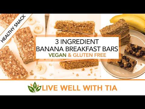 3 Ingredient recipe | Banana Breakfast Bar | Vegan & Gluten Free