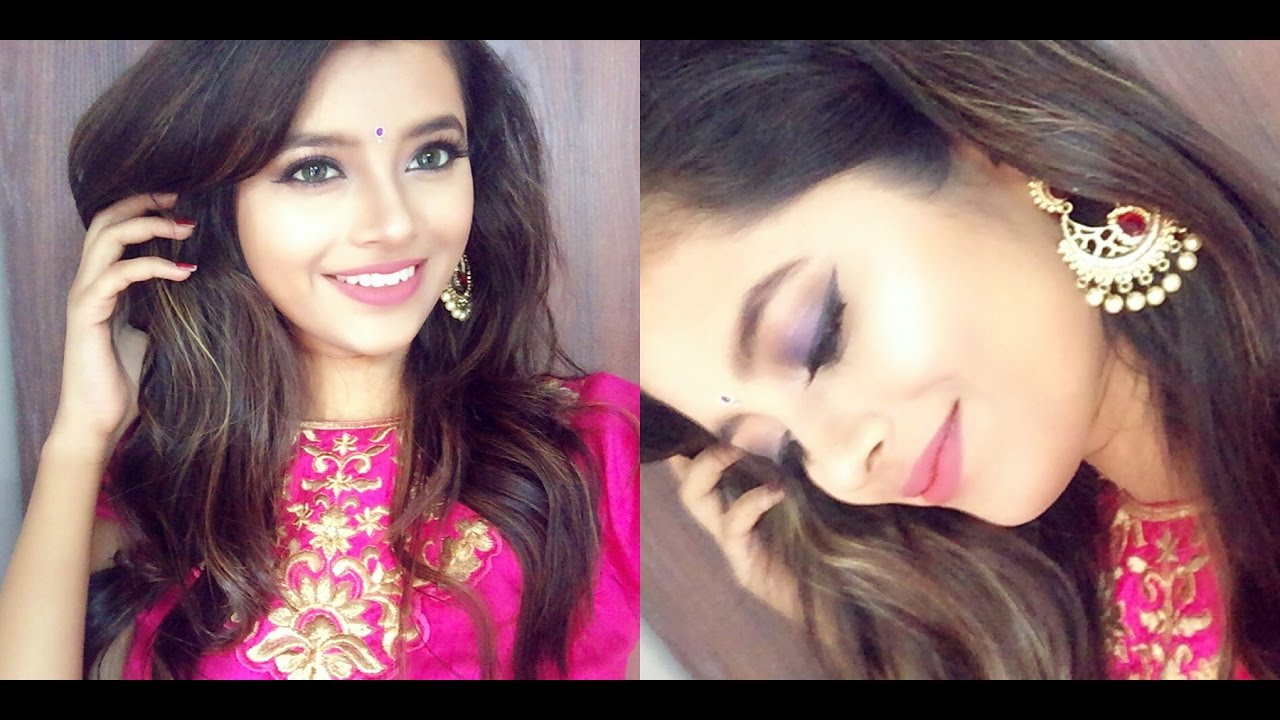 Indian Wedding Guest Makeup Tutorial Blue Pink Long Lasting Shweta Beauty