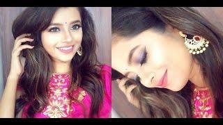 Indian Wedding Guest Makeup Tutorial-Blue+Pink|Long lasting Makeup|Shweta Makeup&Beauty
