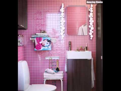 Rosa Fliesen Badezimmer Youtube