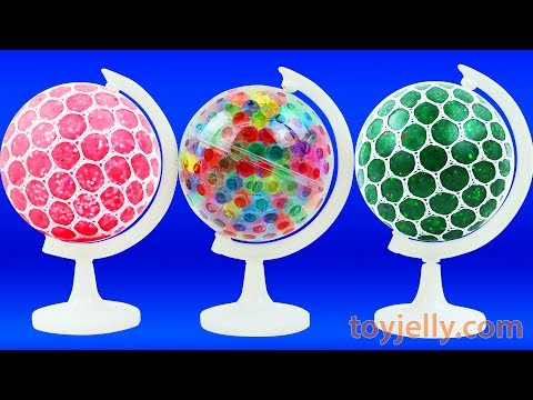 Learn Colors Squishy Mesh Stress Balls Kinder Surprise Eggs Kids Globe Toys Baby Song Nursery Rhymes