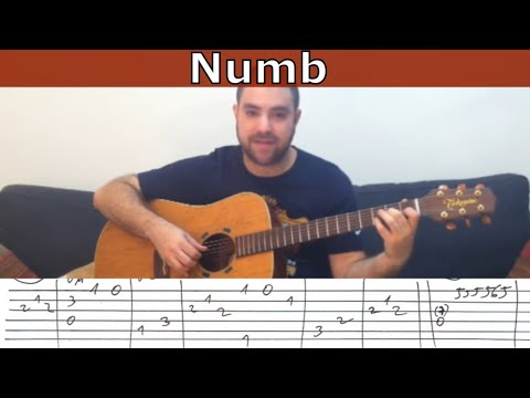Fingerstyle Tutorial: Numb (LP) - Guitar Lesson w/ TAB