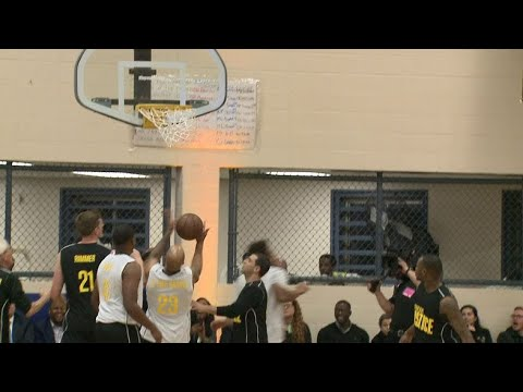 Bucks, state leaders take part in basketball game at Racine Correctional Institution