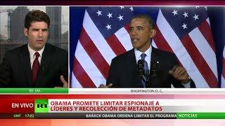 Obama promete limitar espionaje a países aliados y