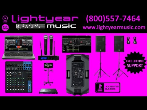 Karaoke Machine Professional Laptop Karaoke System 2200 Watts Lightyearmusic (800)557-7464