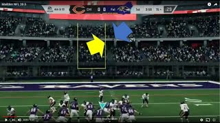Madden NFL 20, MUT 1086 Challenge 3, Hit the Field Goal Side Uprights or  Crossbar!!