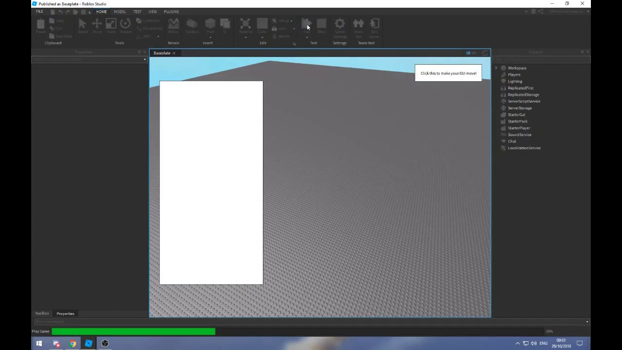 How To Animate A Gui In Roblox Studio Using Tweening Youtube