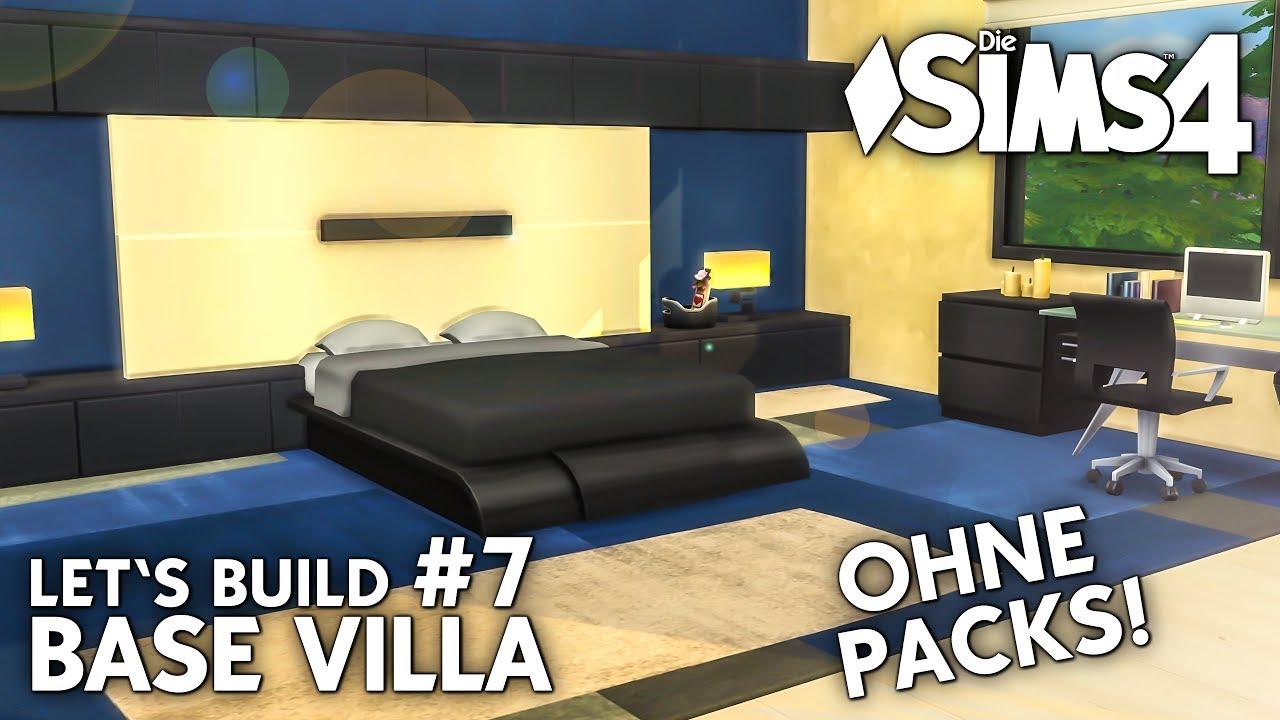 Die Sims 4 Haus bauen ohne Packs | Base Villa #7: Modernes ...