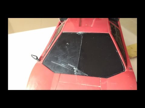 How to Restore Scratched Plastic Model RC TAIYO Lamborghini Countach Vintage ( pasta K2 TURBO )
