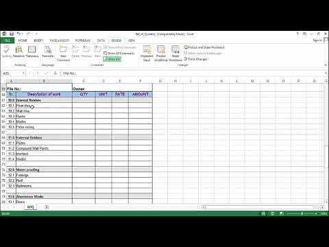 How to prepare bill of quantity boq in excel sheet youtube how to prepare bill of quantity boq in excel sheet altavistaventures Choice Image