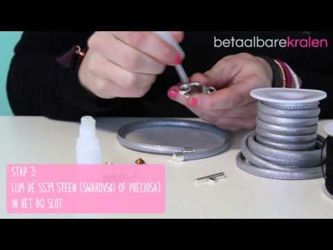 Sieraden maken: Hoe maak je een armband met macramé draad en DQ slot? ♡ DIY