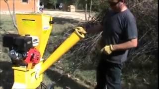 Démonstration du broyeur de végétaux thermique à moteur 7CV OHV