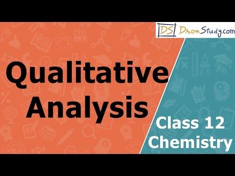 Qualitative Analysis | Class 12 XII Chemistry | CBSE | IIT-JEE | AIPMT