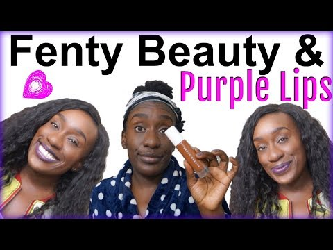 GRWM Chit Chat: Fenty Beauty on Dark Skin, Ombred Purple Lips , Single Life from YouTube · Duration:  16 minutes 53 seconds