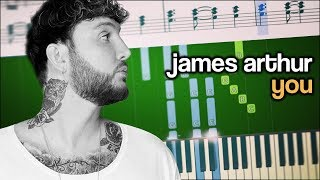 James Arthur - You (feat. Travis Barker) - Piano Tutorial + SHEETS