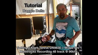 Tutorial Setting 2 Klark Tehnik DN9630 - Midas Pro1Multitrack Recording 48 Channel @ 96 khz