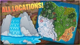 Visit 7 Different Waterfall Locations ALL LOCATIONS   Fortnite Overtime Challenges   FREE Battlepass