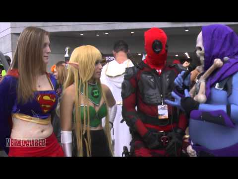 Deadpool, Arisia and Supergirl! New York Comic Con Cosplay 2014