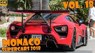 SUPERCARS IN MONACO 2018 - VOL. 18 (Apollo,  Zenvo, 918 Spyder, Stallone, etc ... ) [2018 4K]
