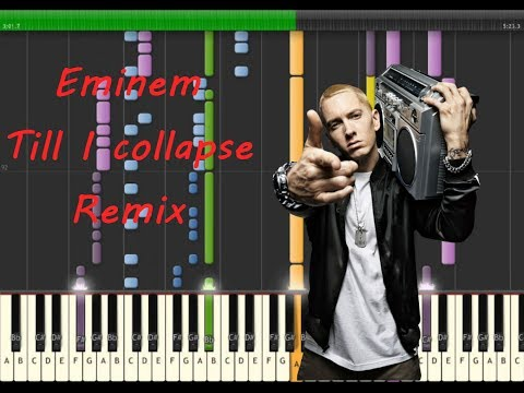HOW TO PLAY!!! Eminem - Till I collapse Piano Remix [Tutorial Cover]