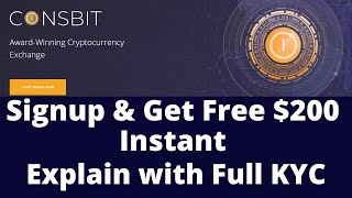 Coinsbit.io New Crypto Exchange-Get Free $200 Instant||Explain with Full KYC
