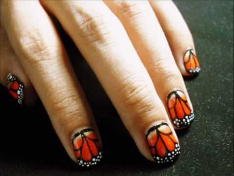 Monarch Butterfly Nails My Entry To Luxuriousnails Migi Nail Art