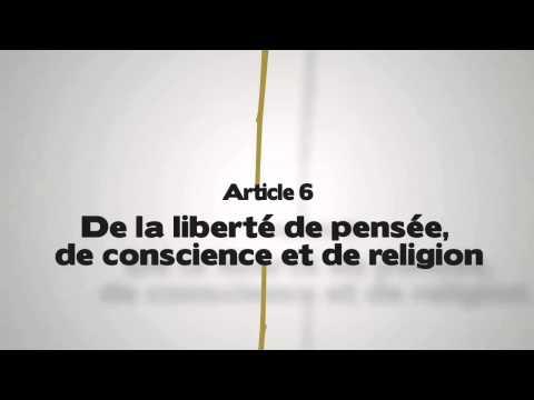 Article 6. De la liberté de penser, de conscience et de religion