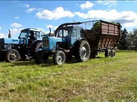 Silage making 2015 in Estonia (with soviet-era equipment)