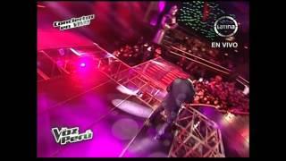 Christian Silva canta Tendría que llorar por ti - La Voz Perú - Conciertos en vivo - Temporada 2