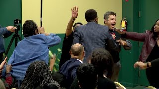 Protester interrupts event by Buttigieg supporters