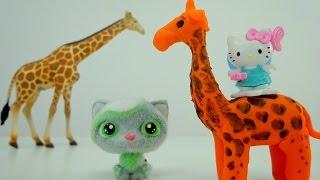Поделки для детей. Как слепить жирафа для Китти