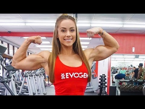 ifbb muscle girl  female fitness workout  bodybuilding