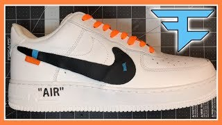 CUSTOM OFF WHITE AIR FORCE 1's FOR FAZE ADAPT + (GIVEAWAY) - (GIVEAWAY OVER)
